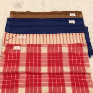 Four (4) CRATE&BARREL, Variety of Large Dishtowels